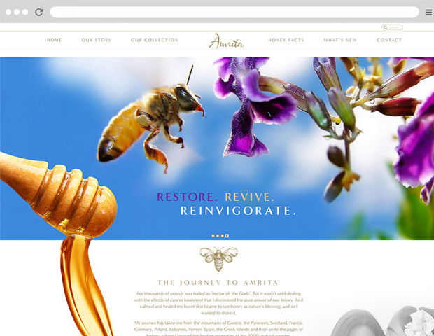 Amrita honey website is one of the E-Commerce creative website, which is design by our team.